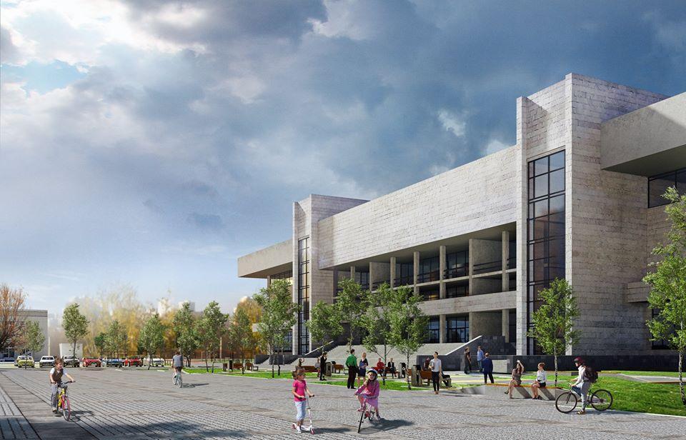 Ескізний проект реконструкції площі перед спорткомплексом